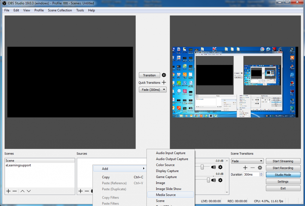 OBS Studio free screen recorder
