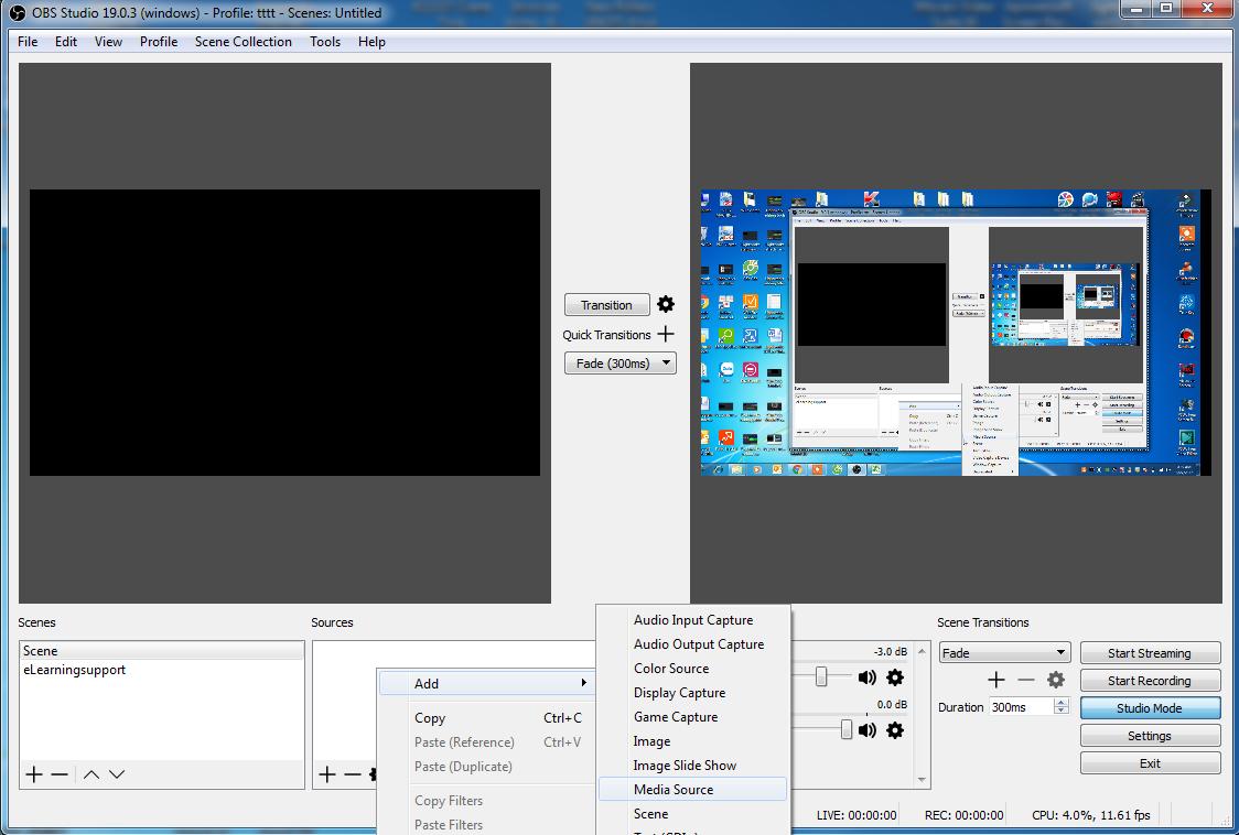 OBS Studio Interface