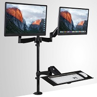 Mount-It! Sit-Stand Desk Mount Workstation 21% OFF Deal Today