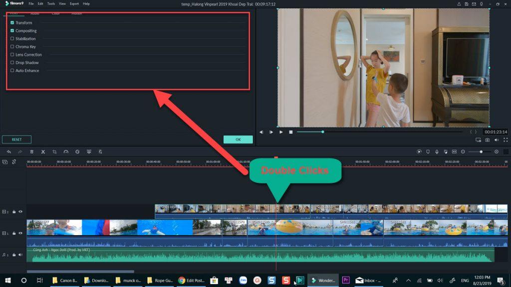 Filmora 9 Video Effect Control
