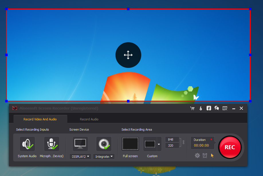 Aiseesoft Screen Recorder Interface