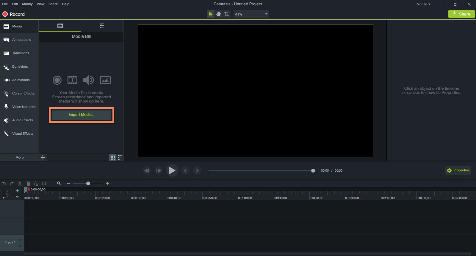 Camtasia Studio 9 Interface