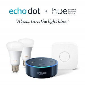 35% Off Eco Dot + Philips Hue 2 Color Bulb Starter Kit