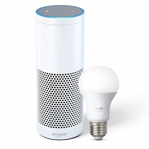 39% Off Echo Plus with built-in Hub – White + Philips Hue Bulb Deal