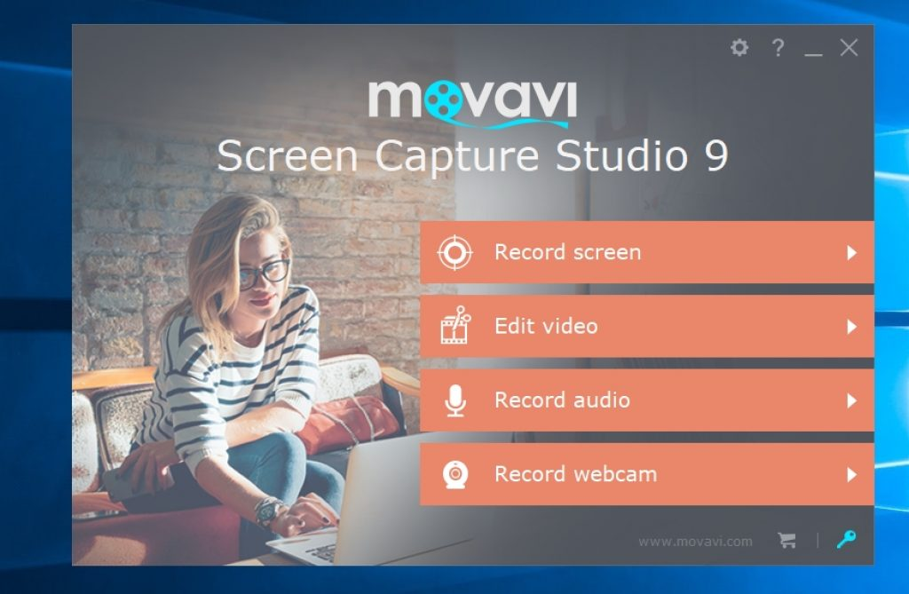Movavi Screen Capture Studio Starting Screen