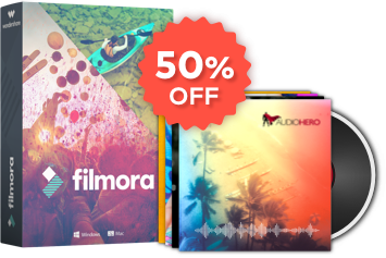 Exclusive Save 50% Off on Filmora + Audiohero