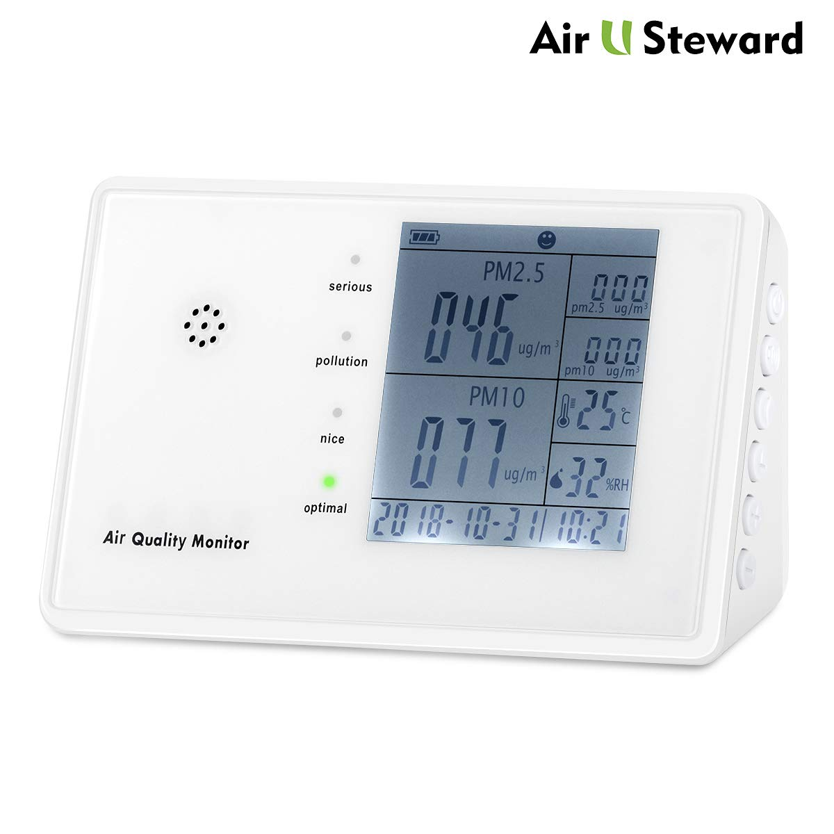 Coupon Code: 60% Off YVELINES Indoor Air Quality Monitor for PM2.5/PM10 HCHO TVOC Temperature Humidity