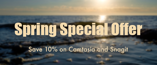 10% Off TechSmith Camtasia and/ or Snagit Discount – Spring Sale 2020