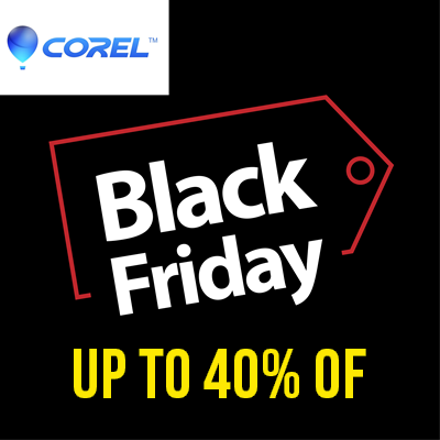 Corel Black Friday 2020 Offers – Save Up to 40% Off on Selected Products