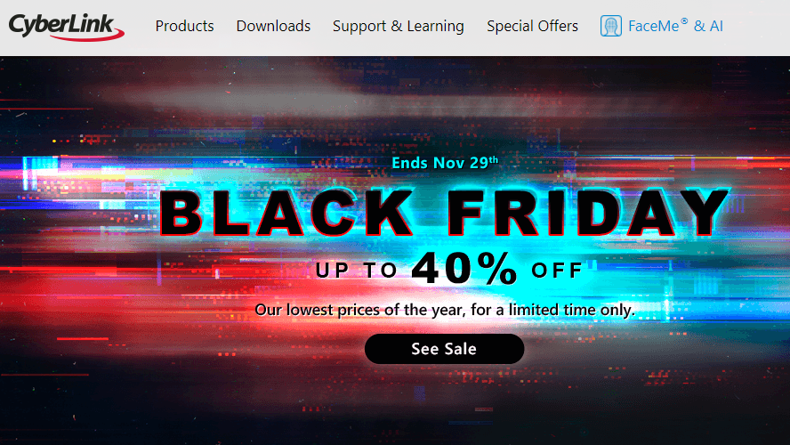 Black Friday 2020: Get Up to 40% Off CyberLink 365 Products