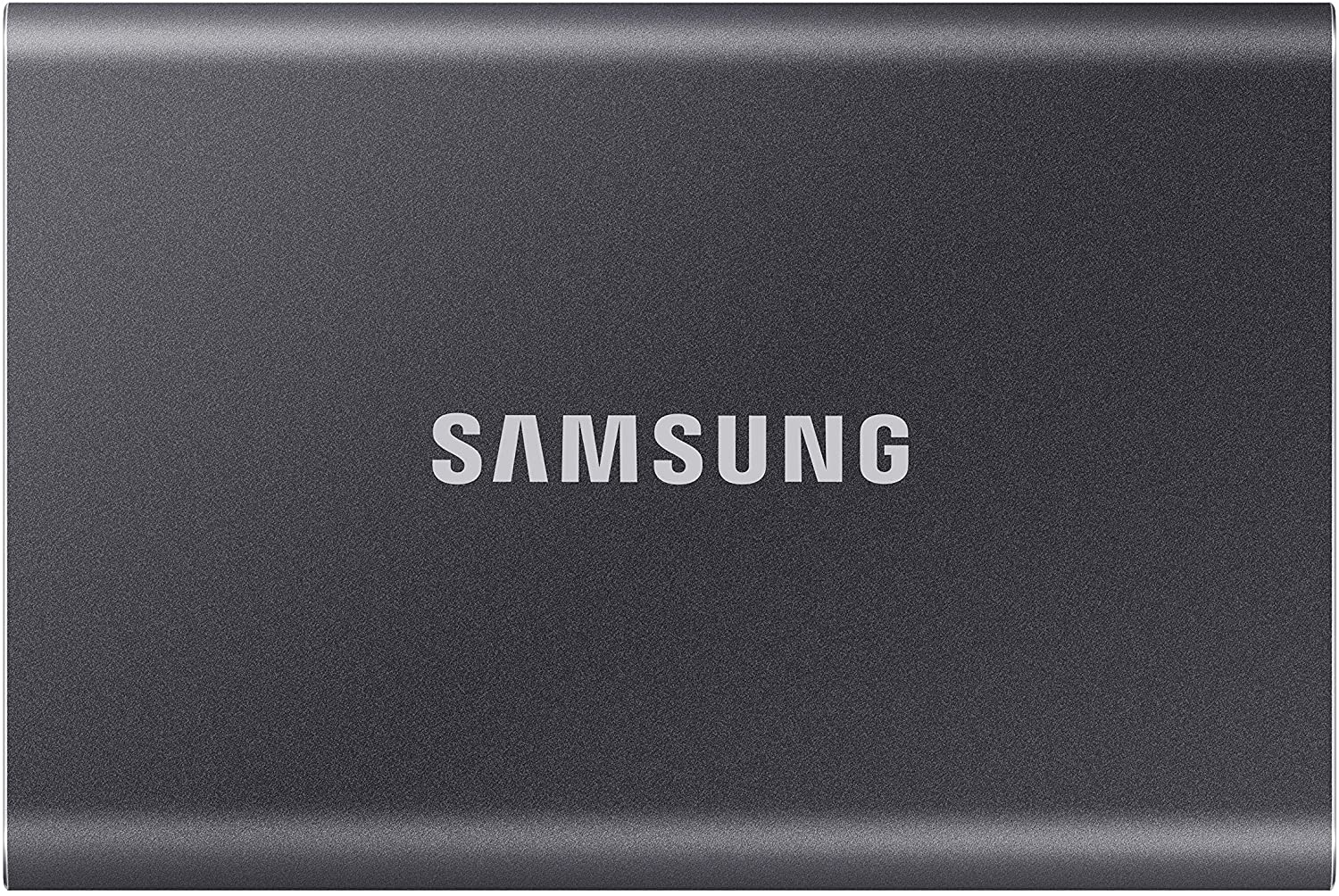 SAMSUNG T7 Portable SSD 2TB - Up to 1050MB/s - USB 3.2 External Solid State Drive, Gray (MU-PC2T0T/AM)