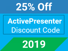 25% OFF ActivePresenter Professional Coupon Code 2018