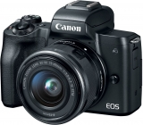 28% Off Canon EOS M50 Mirrorless Camera Kit w/EF-M15-45mm and 4K Video and Live Deals