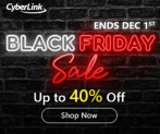 40% Off CyberLink Black Friday 2019 Deal and 10% Extra Coupon Code