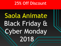 25% Off Saola Animate 2018 Black Friday Offer