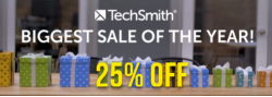 TechSmith Black Friday &Cyber Monday 2020 Promo – 25% Off Camtasia, Snagit and Bundle