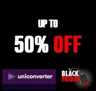 Up to 50% Off Wondershare UniConverter Black Friday 2019 Sales